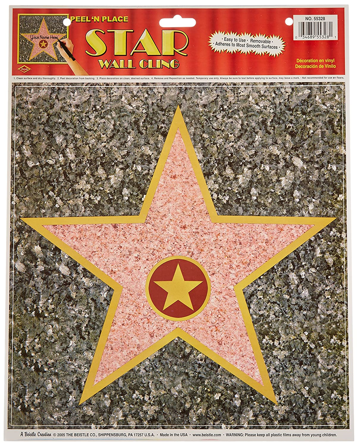 Amazon.com: Personalized Hollywood Walk Of Fame Stars Decor (12 Pack): Toys  U0026 Games