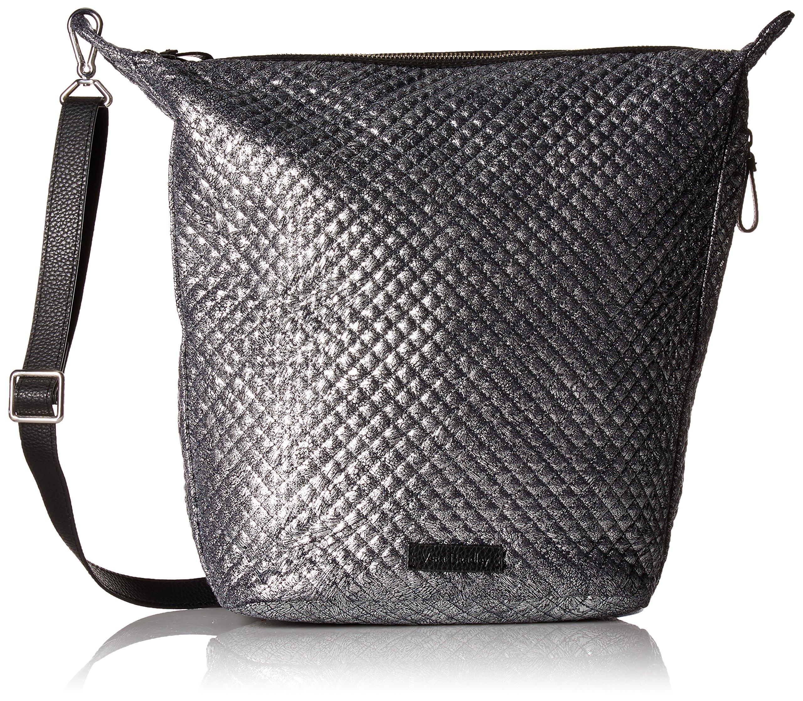 Vera Bradley Halo Carson Hobo Bag-Metallic Microfiber, Mist