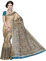 Rani Saahiba Art Bhagalpuri Silk Madhubani Printed Saree