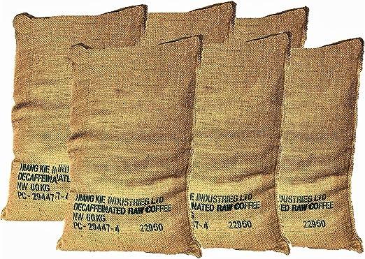 Sacos de Yute Grande de Café Reciclados – Pack de 6 Unidades de ...