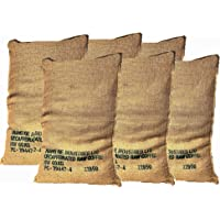 Sacos de Yute Grande de Café Reciclados – Pack de 6 Unidades de 70X100 60Kg – Ideal para Jardinería y Manualidades…