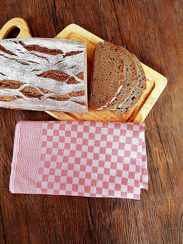 ZOLLNER 10 Trapos de Cocina, algodón, a Cuadros Rojos, 46x70 cm: Amazon.es: Hogar