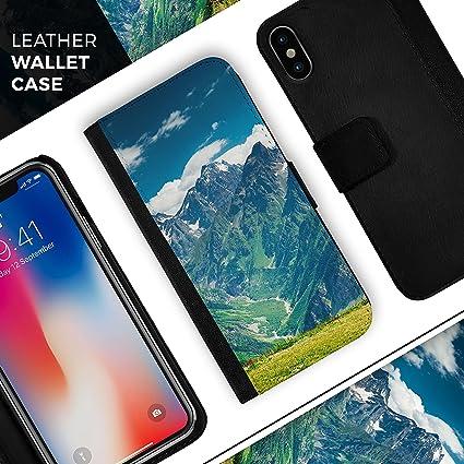 Amazon.com: Scenic Mountaintops iPhone plegable de piel ...