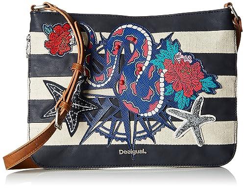 Bols_snake Sailor Molina Womens Cross-Body Bag Blue (Navy) 2x23x30.5 cm (B x H x T) Desigual 6fJ1nH
