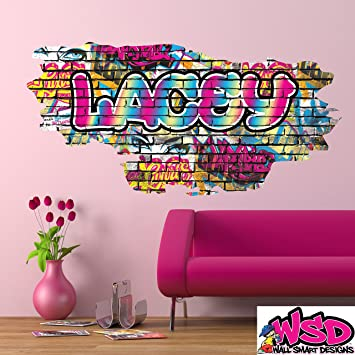 Amazoncom Custom D Rainbow Pastel Colors Multi Color Graffiti - Custom vinyl wall decals graffiti