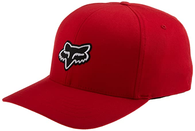 a0f33d855704cb Fox Head Men's Legacy Flexfit Hat, Red, Small/Medium
