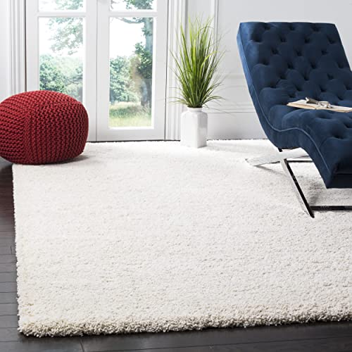 Safavieh Milan Shag Collection SG180-1212 Ivory Area Rug 6 x 9