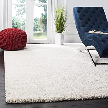 Safavieh Milan Shag Collection SG180 1212 Ivory Area Rug 10 X 14