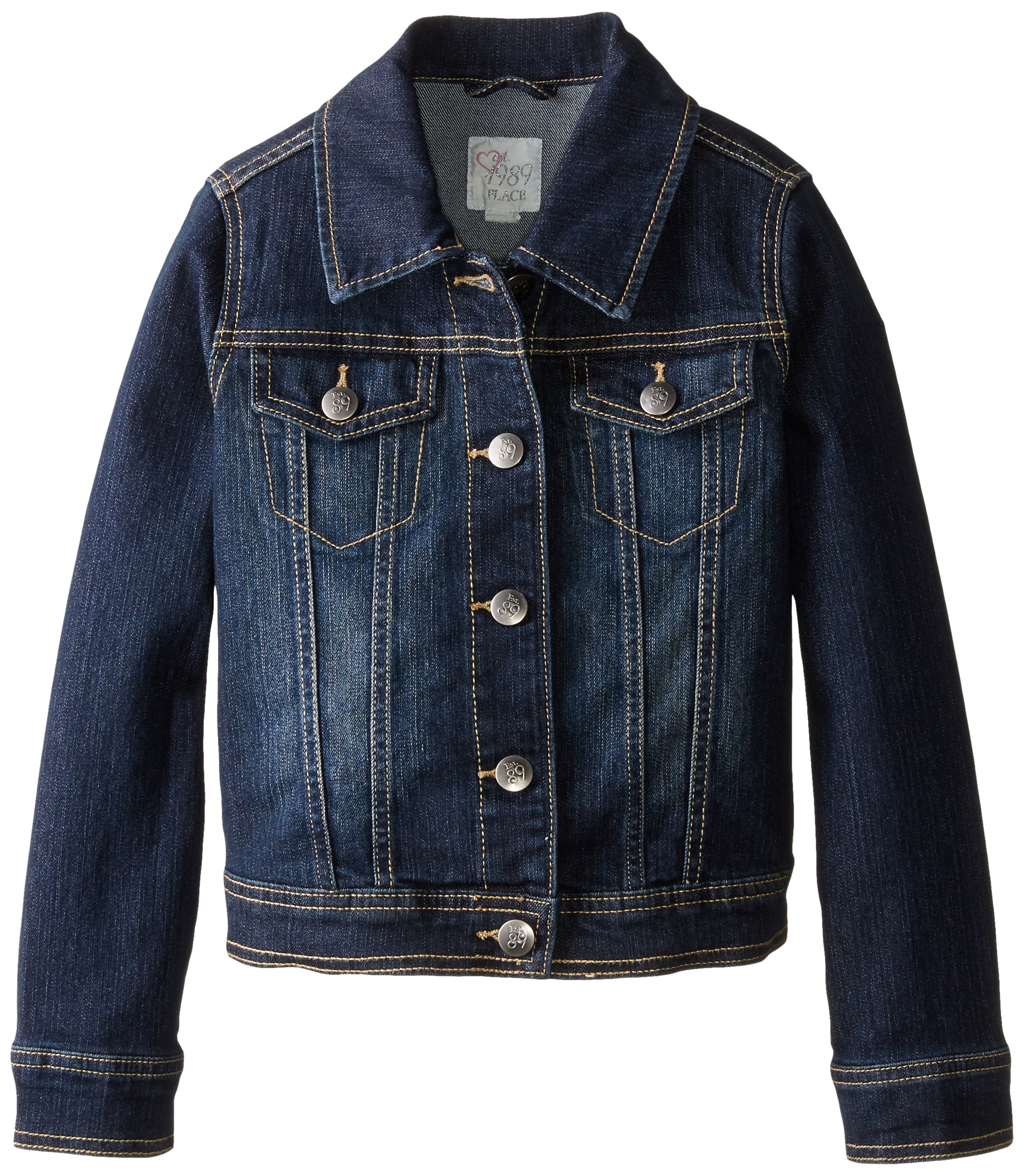 The Children's Place Big Girls' Denim Jacket, Odyssey, Medium/7-8