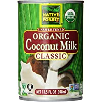 Native Forest Unsweetened Organic Classic Coconut Milk, 13.5 Ounce Can