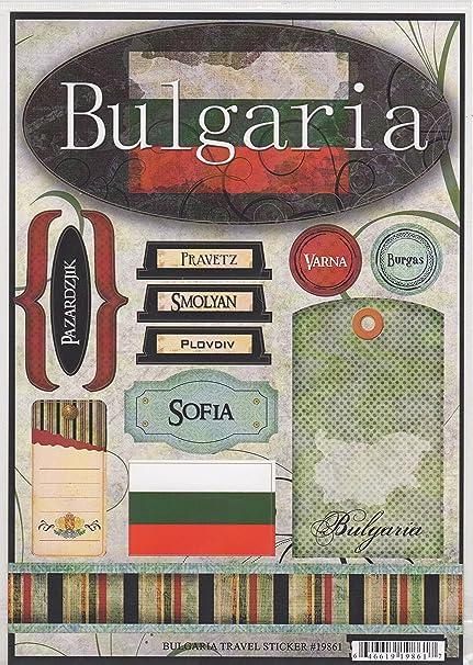 Amazon Bulgaria World Travel Cardstock Scrapbook Stickers 19861