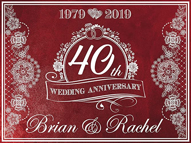 40th Wedding Anniversary Gift.Amazon Com 40th Wedding Anniversary Banner 40th Anniversary Gift