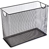 "U Brands Mesh Steel Desktop Hanging File Holder, Letter Size, 12.4"" x 9.75"" x 5.5"", Black"
