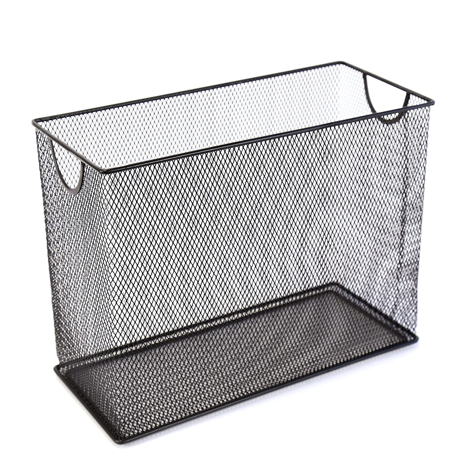 "U Brands Mesh Steel Desktop Hanging File Holder, Letter Size, 12.4"" x 9.53"" x 5.5"", Black"