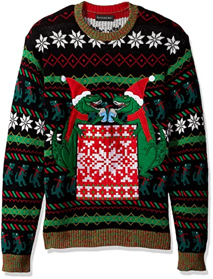Blizzard Bay Mens T Rex Drink Pocket Ugly Christmas Sweater At