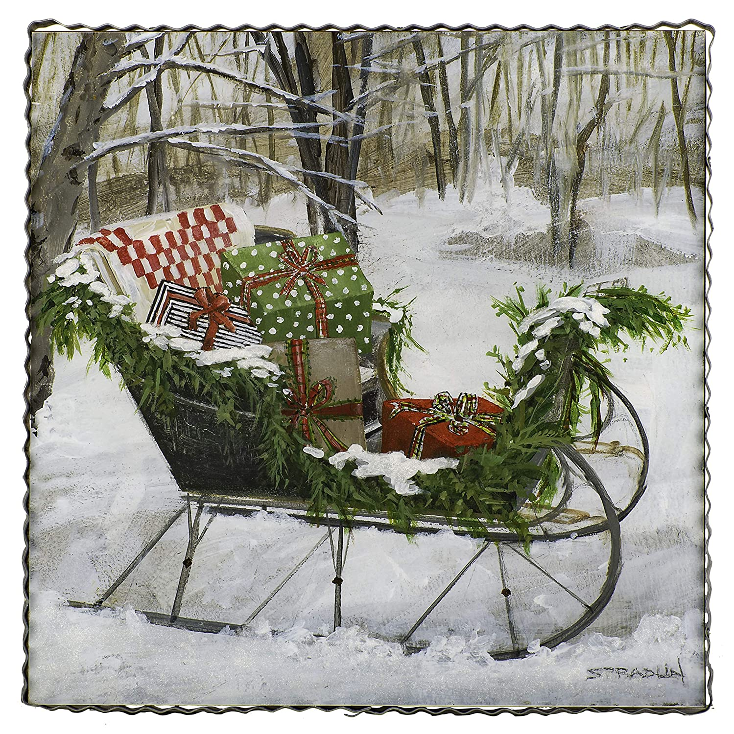 Gallery Sleigh of Gifts The Round Top Collection Wood /& Metal