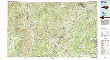 Amazon Com Yellowmaps Southern Pines Nc Topo Map 1 100000 Scale