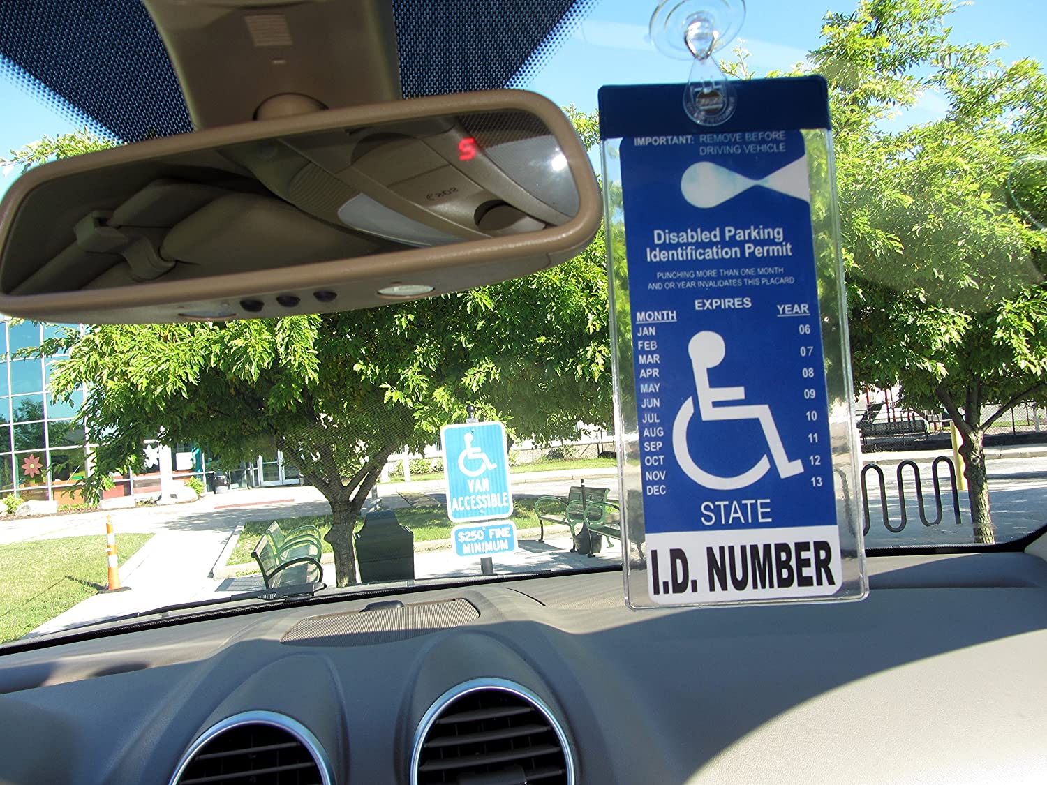 Amazon.com Windshield Tag by JL Safety. Handicap Placard Protective Holder with Suction Cup. Magnetically Display u0026 Remove Tag Automotive & Amazon.com: Windshield Tag by JL Safety. Handicap Placard Protective ...