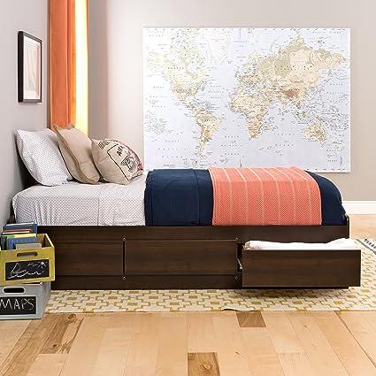 Amazoncom Prepac Espresso Twin Xl Mates Platform Storage Bed
