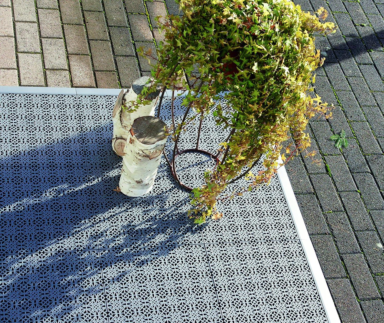 Set 2 Eckleisten andiamo Eckleiste zur Kunststofffliese Bodenfliese Gartenfliese L/änge schwarz 43 cm