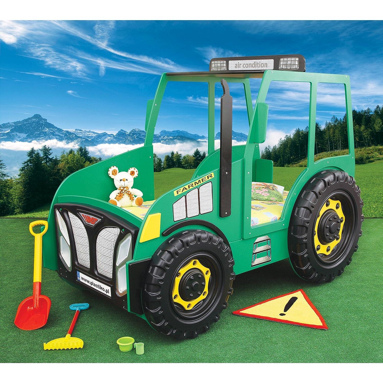 Kinderbett auto grün  Kinder Bett Kinderbett mit Matratze Auto Traktor (grün): Amazon.de ...