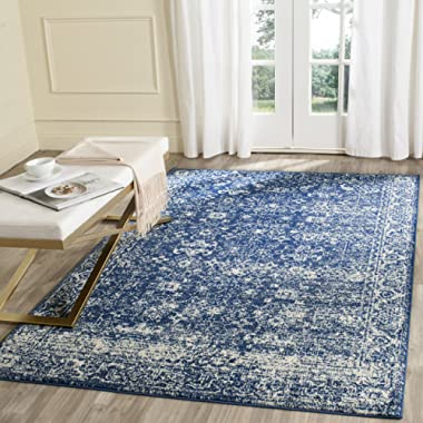 Safavieh Evoke Collection EVK270A Vintage Navy and Ivory Area Rug (6'7  x 9')