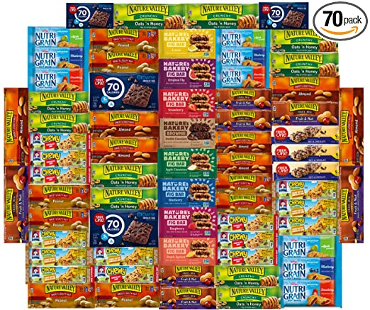 Amazon.com : Ultimate Healthy Office Bars (70 Count), Snacks & Nuts Bulk  Variety Pack - Travel Snack Box - Military Care Package, Variety Gift Pack  for Office, Travel, Students, Final Exams, Outdoor :