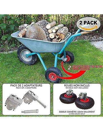 Estabilizadores para carretilla | Adaptadores de rueda de jardín para carretilla X 2 | Conjunto de
