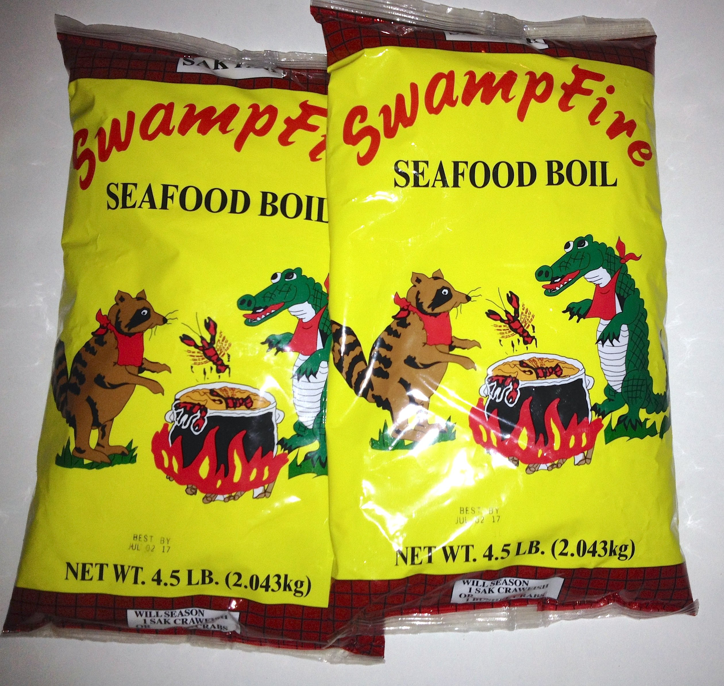 Swamp Fire Seafood Boil (Crawfish, Crab, Shrimp) 4.5# (2pk) by Swamp Fire (Image #1)