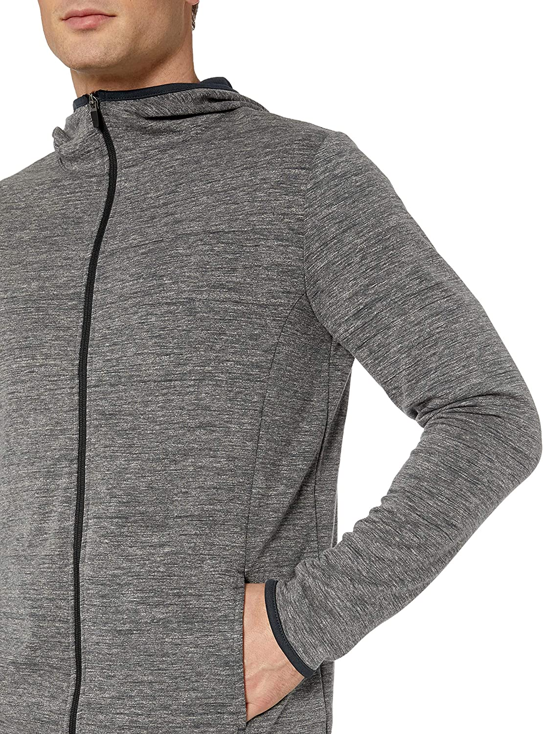 Essentials Mens Performance Full-Zip Hoodie