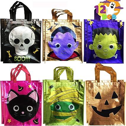 Trick or Treat Halloween Tote Bag Halloween goodie Bags Kids Bags