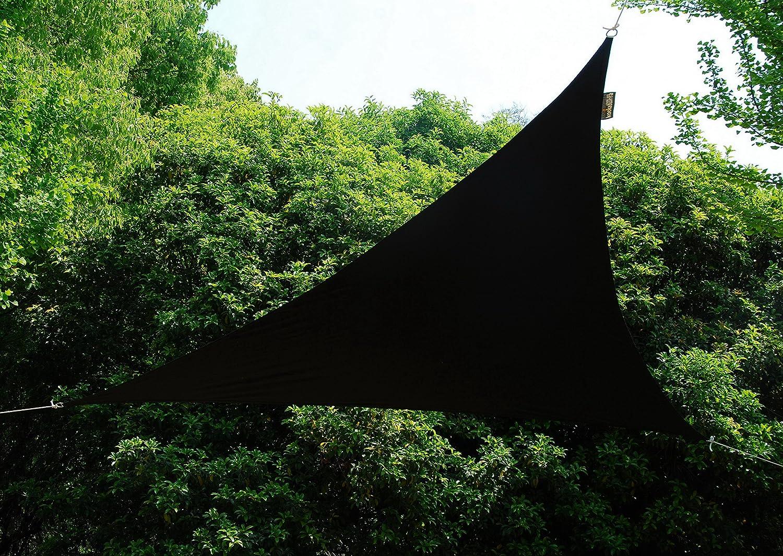 クッカバラ日除けシェードセイル 黒色 4x5m長方形 紫外線98%カット 防水タイプ OL4008LREC B079LBBYWZ 16500 5x4m長方形  5x4m長方形