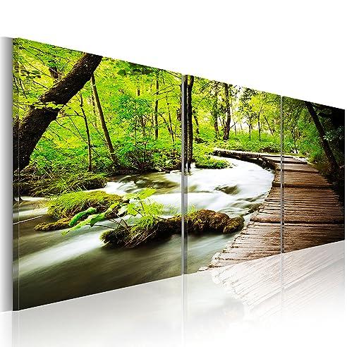Wandbilder natur  Amazon.de: murando - Bilder 150x50 cm - Leinwandbilder - Fertig ...