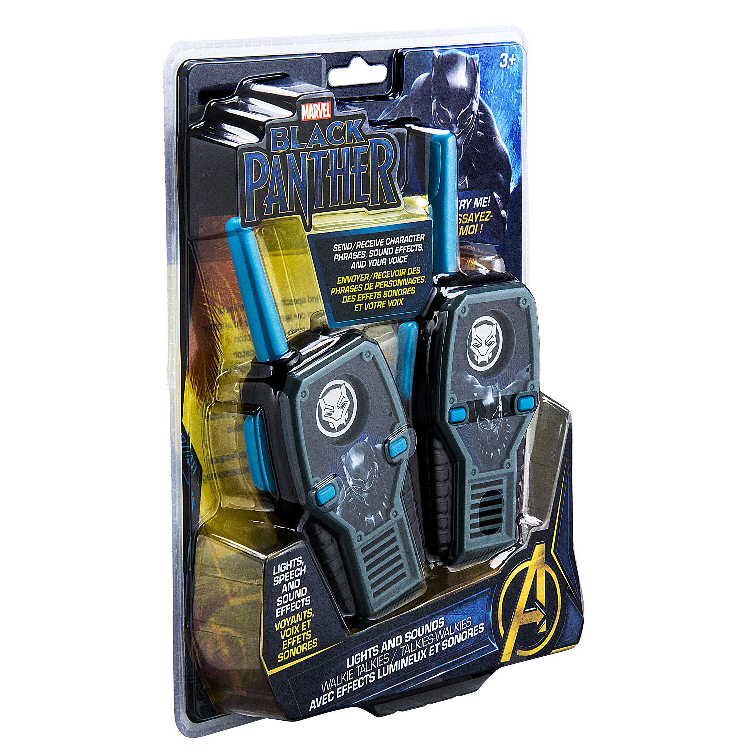 eKids Black Panther FRS Walkie Talkies with Lights & Sounds Kid Friendly Easy to Use by eKids (Image #7)