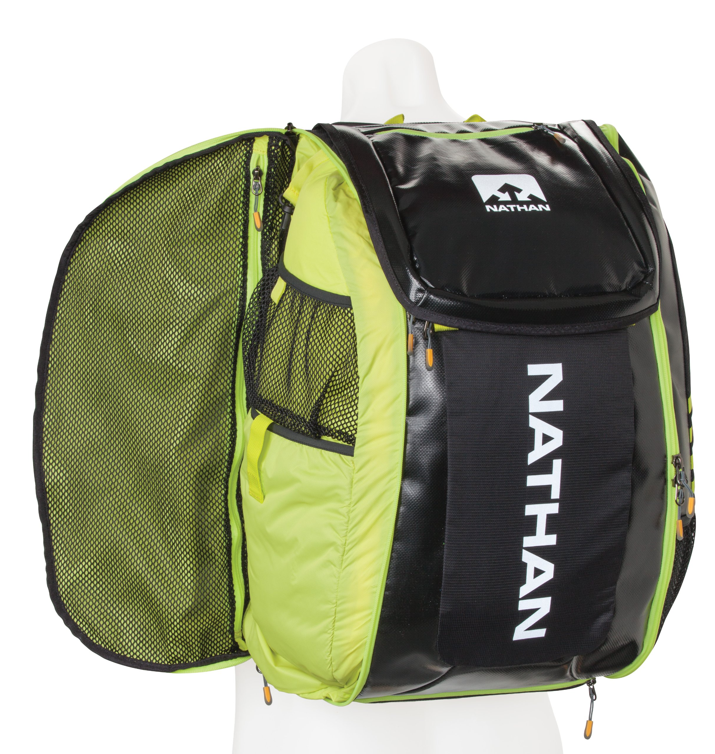 Nathan Flight Control Bag, Black/Sulphur Spring, One Size by Nathan (Image #2)