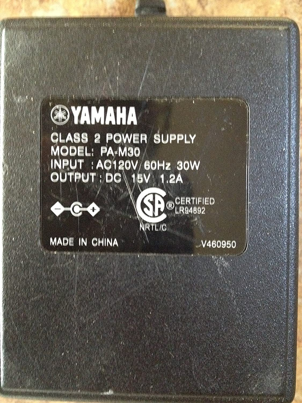 PA-M30 Electronics Yamaha Power Supply AC Adapter 15V DC 1.2A Model