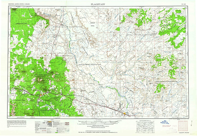 Topographic Map Arizona.Amazon Com Yellowmaps Flagstaff Az Topo Map 1 250000 Scale 1 X 2