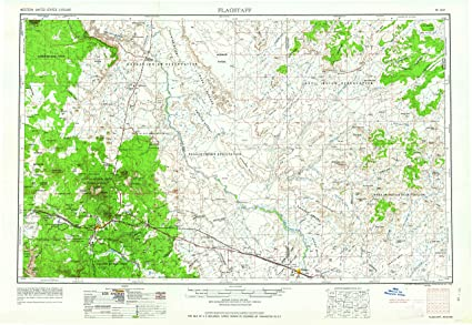 Amazon Com Yellowmaps Flagstaff Az Topo Map 1 250000 Scale 1 X 2