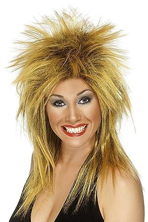Smiffys Peluca de Diva del Rock, Jengibre 42240