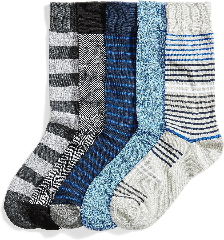 Amazon Brand - Goodthreads Men's 5-Pack Patterned Socks