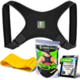 Posture Corrector and Resistance Band Set by Evoke Pro – FDA Approved Posture Brace and Spine Corrector Device that Prevents Slouching and Provides Clavicle Support