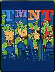 "Northwest Enterprises Teenage Mutant Ninja Turtles Silk Touch Throw - 40"" by 50"" - Cowabunga City Ninja!"