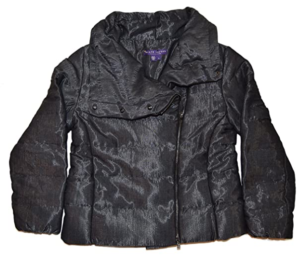Polo Ralph Lauren Collection Purple Label Down Jacket Coat Italy Black  Silver Small
