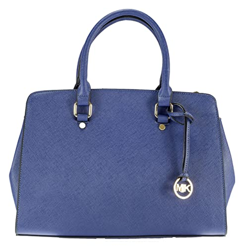 72d6cc1d53cd1 MIK Glamour Trendy Elegant Damen Schultertasche Handtasche PU-Ledertasche  (Dunkelblau)