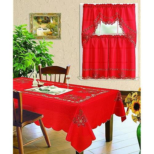 Christmas Kitchen: Christmas Kitchen Curtains: Amazon.com