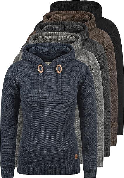 be1af52fce1ad6 DESIRES Pita Damen Strickpullover Grobstrick Pullover Mit Kapuze, Größe:S,  Farbe:Oyster