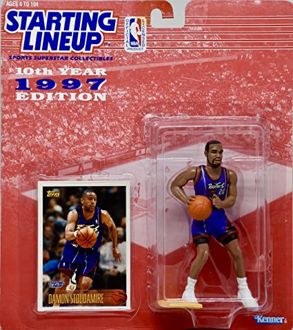 32a3f999857 Amazon.com: DAMON STOUDAMIRE / TORONTO RAPTORS * 1997 * NBA Kenner Starting  Lineup & Exclusive TOPPS Collector Trading Card: Toys & Games