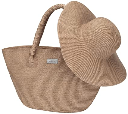 aa09036fad367 Marino Best Beach Tote Bag and Suns Hat for Women - Floppy Straw Hat ...