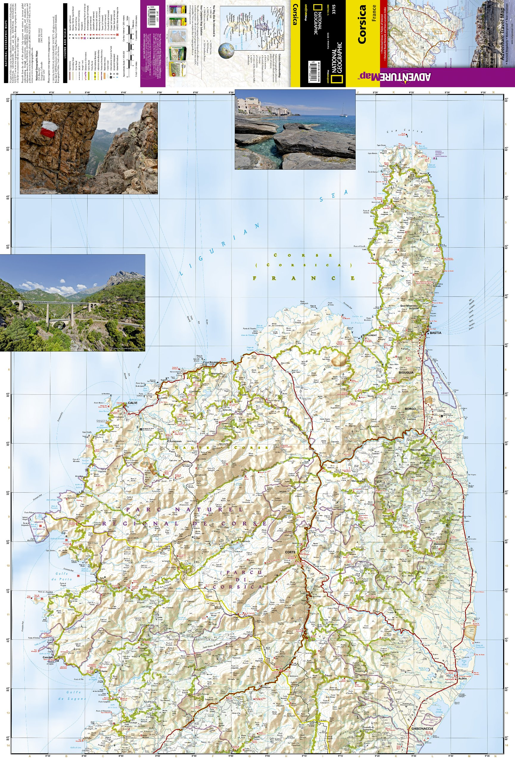Corsica: Travel Maps International Adventure Map National Geographic ...