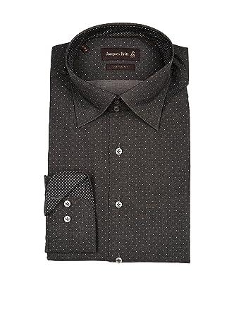 Jacques Britt Herren Hemd Palermo Mix Brown Label Custom Fit